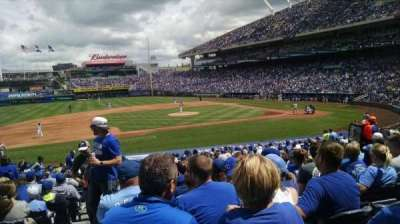 Kauffman Stadium, section: 120, row: x, seat: 1