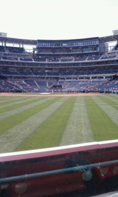 Nationals Park, section: 100, row: A, seat: 18