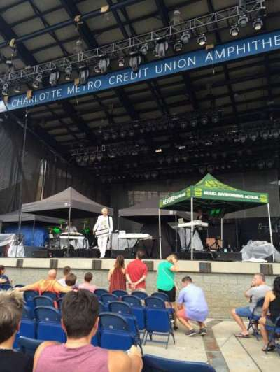 Charlotte Metro Credit Union Amphitheatre, section: 102, row: 8, seat: 1