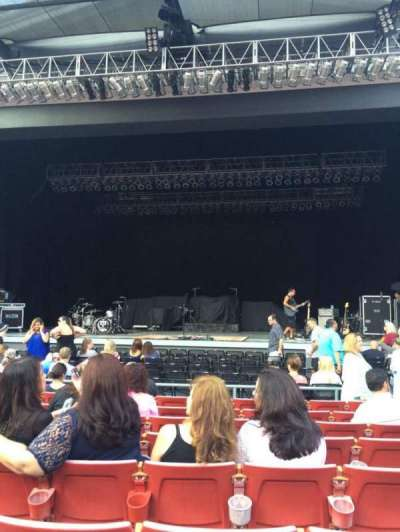 The Greek Theatre, section: A Center, row: H, seat: 106