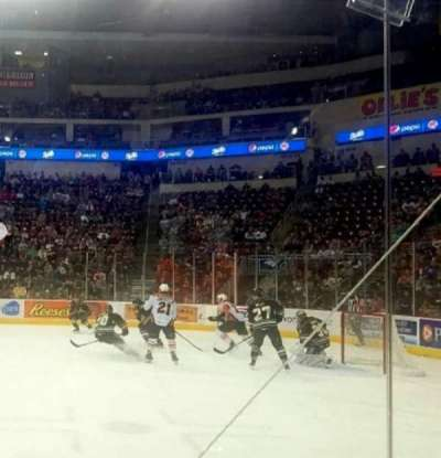 Giant Center, section: 109, row: 2, seat: 6