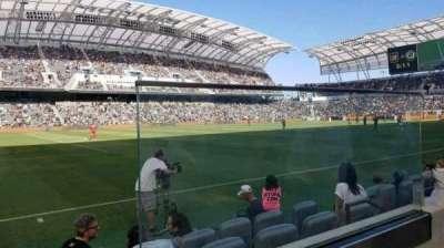 Banc of California Stadium, row: A, seat: 1
