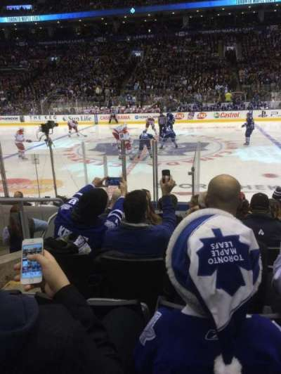 Air Canada Centre, section: 108, row: 9, seat: 8