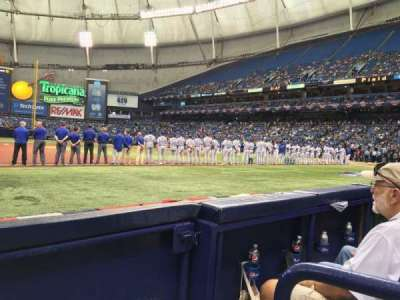 Tropicana Field, section: 121, row: C, seat: 10