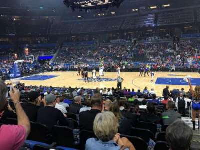 Amway Center, section: 105, row: 13, seat: 1