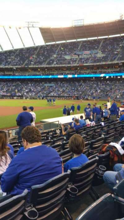 Kauffman Stadium, section: 115, row: J, seat: 1
