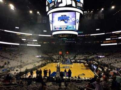 Amway Center, section: 110, row: 13, seat: 8