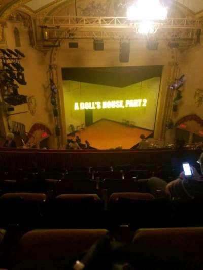 John Golden Theatre, section: rear mezz, row: f, seat: 113