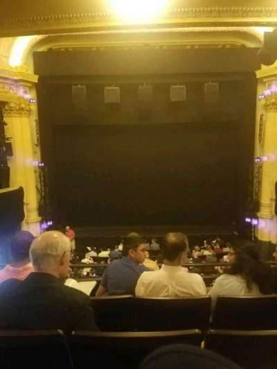 Hudson Theatre, section: dress circle, row: e, seat: 108