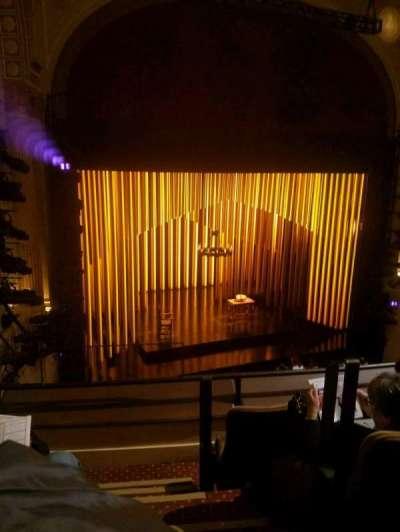 Samuel J. Friedman Theatre, section: front mezz, row: B, seat: 1