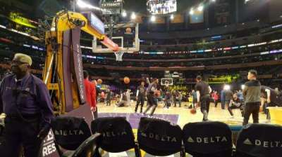Staples Center, section: 115, row: 1, seat: 4