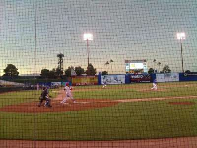 Cashman Field, section: Dug-D, row: 3, seat: 4