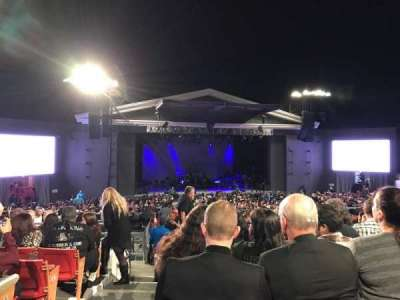 The Greek Theatre, section: B, row: J, seat: 141