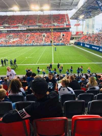 BMO Field, section: 120, row: 15, seat: 22