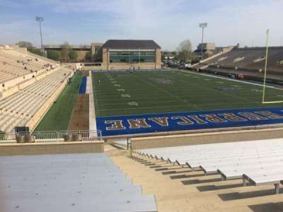 H. A. Chapman Stadium, section: 113, row: 36, seat: 1