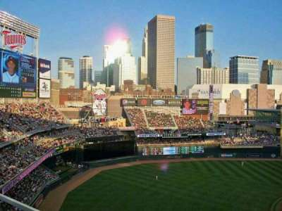 Target Field, section: 326, row: 3, seat: 3