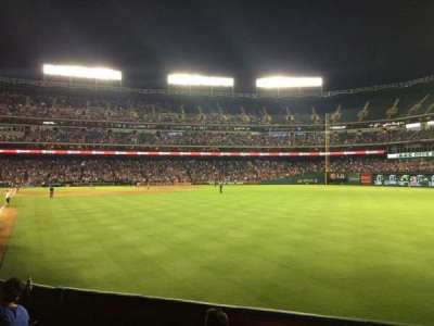 Globe Life Park in Arlington, section: 44, row: 1, seat: 4