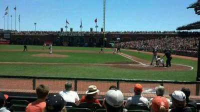 AT&T Park, section: 121, row: d, seat: 12