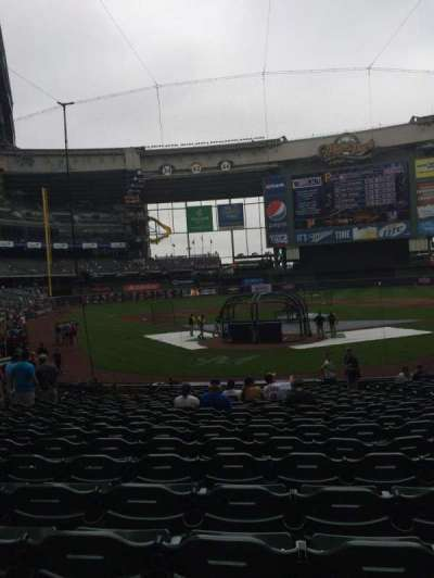 Miller Park, section: 117, row: 19, seat: 15