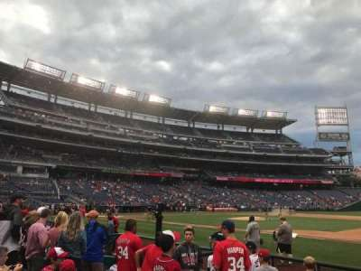 Nationals Park, section: 131, row: F, seat: 13