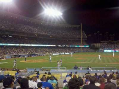Dodger Stadium, section: 18FD, row: O, seat: 1