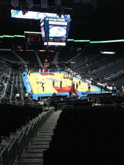 Philips arena, section: 121, seat: 19