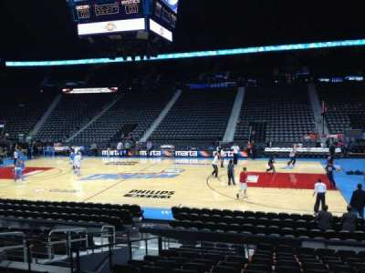 Philips arena, section: 103, row: P, seat: 8