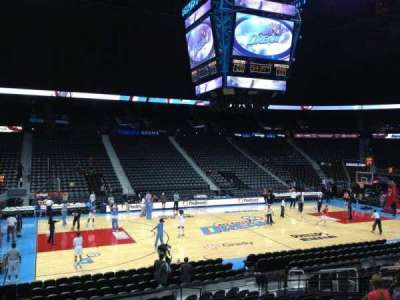 Philips arena, section: 105, row: R, seat: 15
