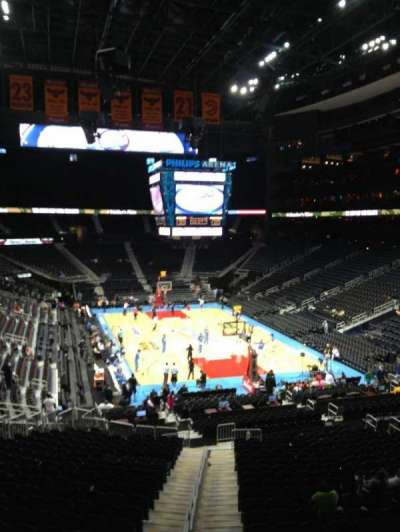 Philips arena, section: 206, row: C, seat: 1