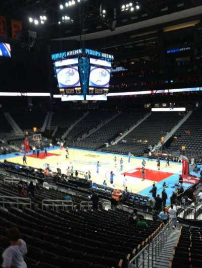Philips arena, section: 112, row: X, seat: 20