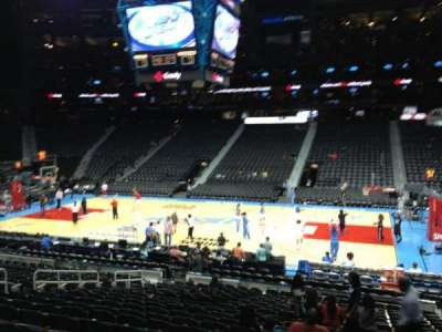 Philips arena, section: 114, row: U, seat: 4