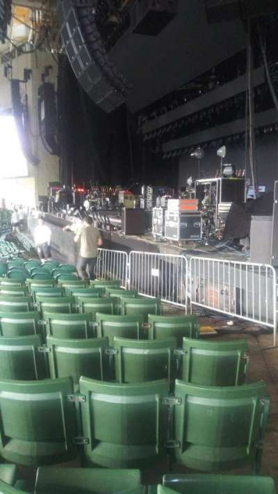 Xfinity Center, section: 1, row: T, seat: 1