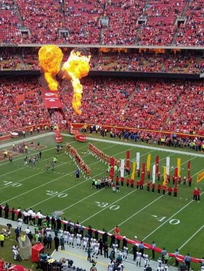 Arrowhead Stadium, section: 346, row: 8, seat: 5