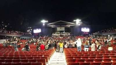 The Greek Theatre, section: C-  Center, row: W, seat: 102