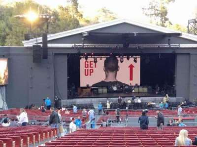 The Greek Theatre, section: B, row: R, seat: 123