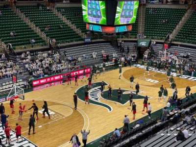 Breslin Center, section: 232, row: 1, seat: 101