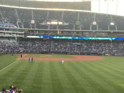 Kauffman Stadium, section: 250, row: A, seat: 12