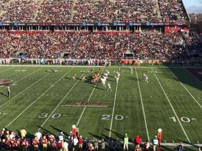 Alumni Stadium, section: FF, row: 1, seat: 11