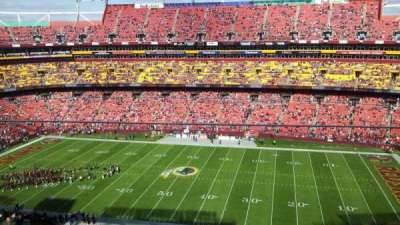 FedEx Field, section: 453, row: 1, seat: 5