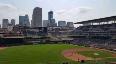 Target Field, section: S, row: 13, seat: 5