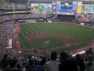 Miller Park, section: 420, row: 21, seat: 19