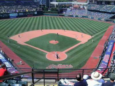 Progressive Field, section: 554, row: r, seat: 7