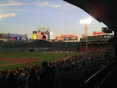 Fenway Park, section: Grandstand 18, row: 3, seat: 5