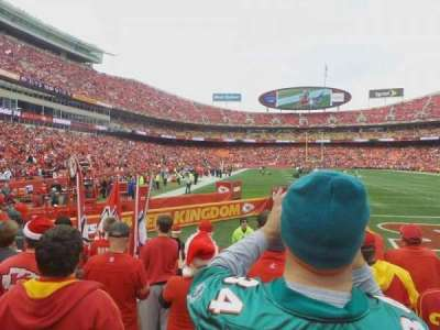 Arrowhead Stadium, section: 111, row: 5, seat: 17