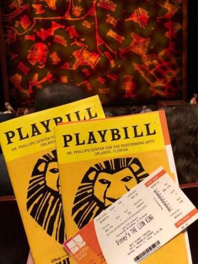 Walt Disney Theatre - Dr. Phillips Center, section: Orc Ctr, row: L, seat: 109
