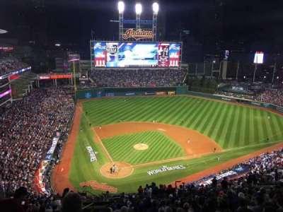 Progressive Field, section: 551, row: U, seat: 23