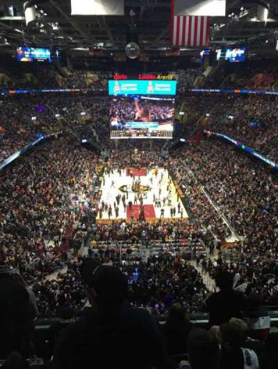 Quicken Loans Arena, section: 200, row: 6, seat: 2