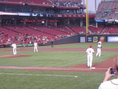 Great American Ball Park, section: 131, row: L, seat: 9