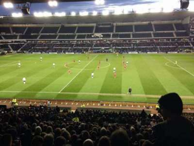Pride Park, section: F, row: V, seat: 360