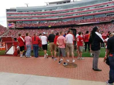 Memorial Stadium (Lincoln), section: 3, row: Field Level